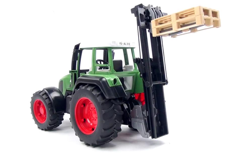 bruder palletdrager aan tractor