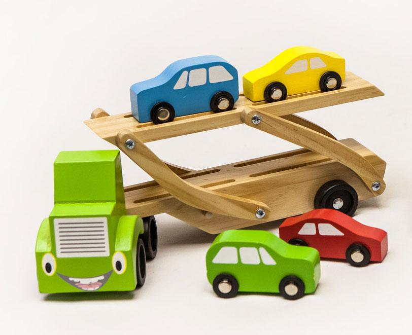 houten baby auto