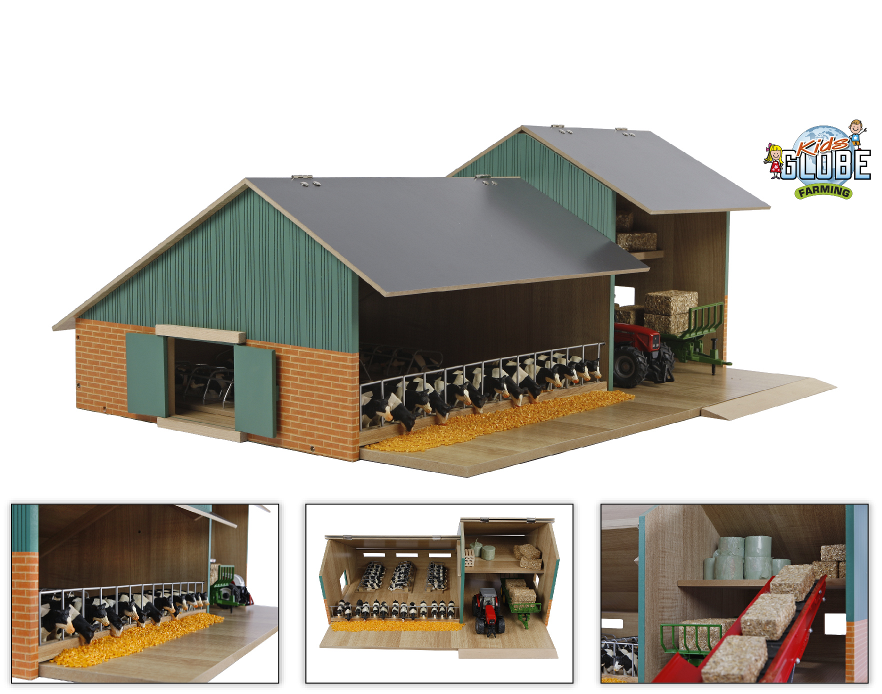 Kids Globe Farming boerderij met loods