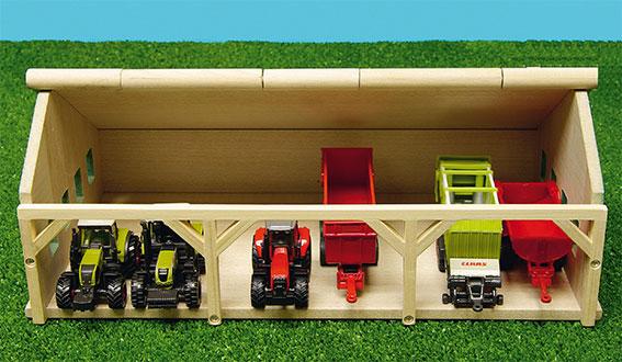 houten speelgoed loods 1-87