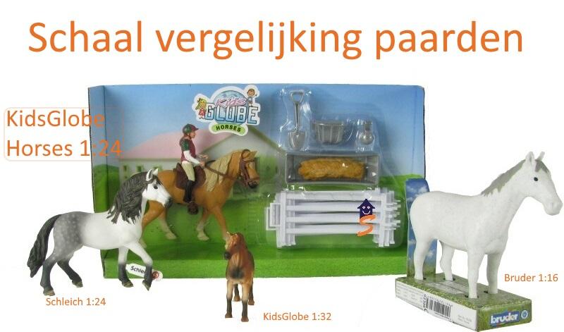 grootte vergelijken speelgoed paarden