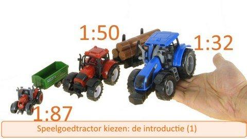 Welke speelgoed tractor kopen 1: de afmetingen