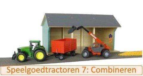 Speelgoed tractor 7: combinaties met boerderij en dieren