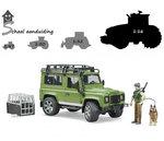 Bruder Land Rover Defender met boswachter