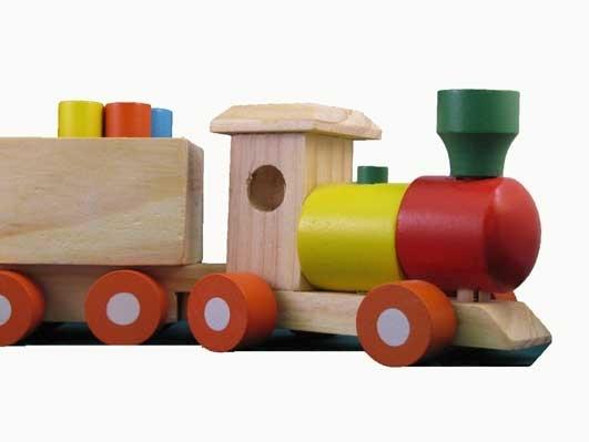 Trein met drie wagons