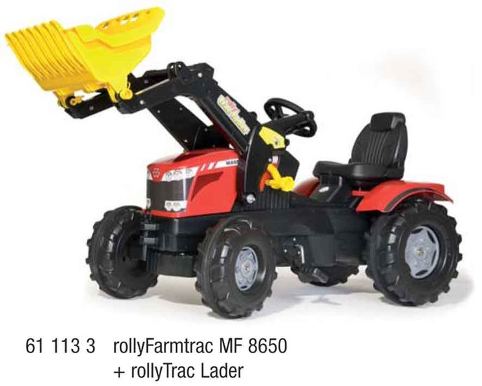 rolly toys MF traptractor met voorlader