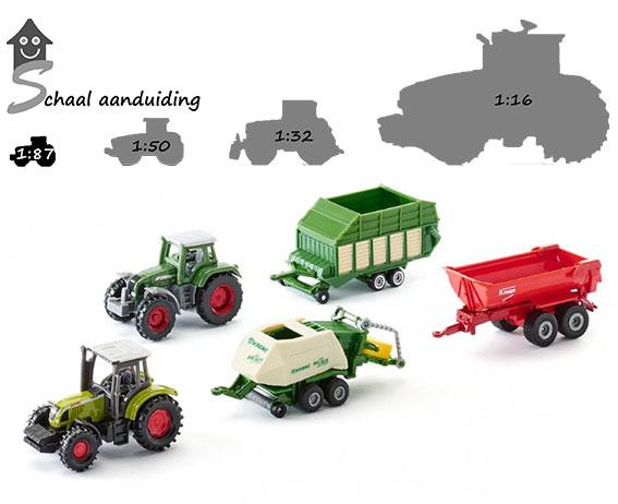Giftset Tractors met aanhangers (schaal 1:87)