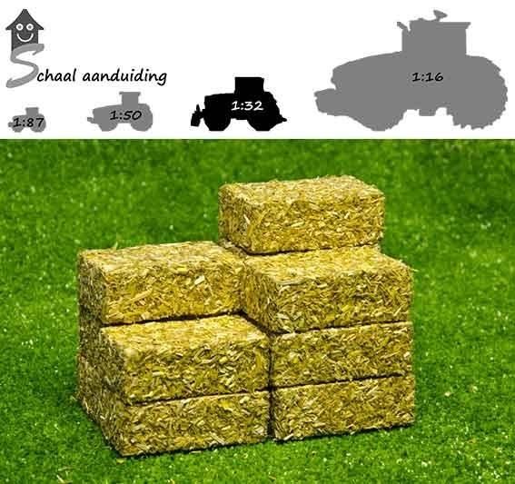 Vierkante hooibaal (set van 4, schaal 1:32)
