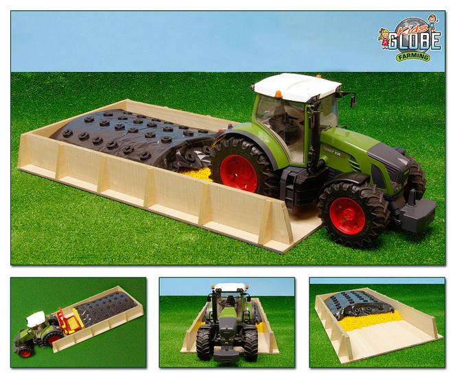 Grote Sleufsilo schaal KidsGlobe Farming 1:16