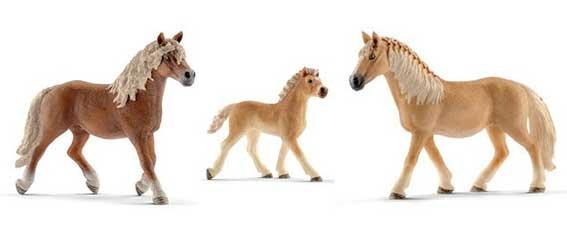 Schleich Haflinger Paarden Familie