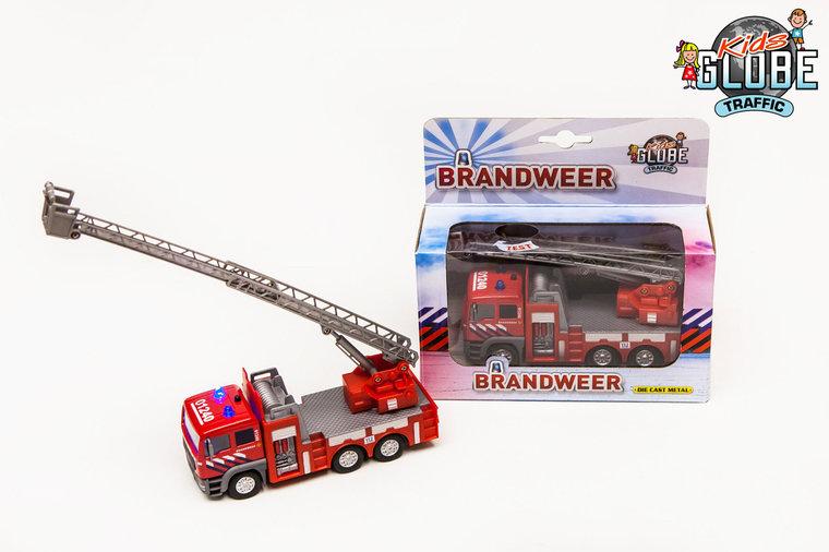 Brandweer ladderwagen voor kleine brandjes