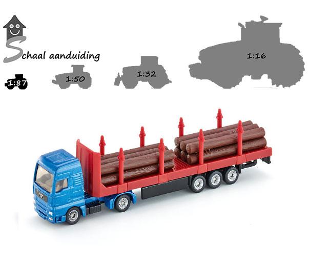 Siku houttransport vrachtwagen (schaal 1:87)