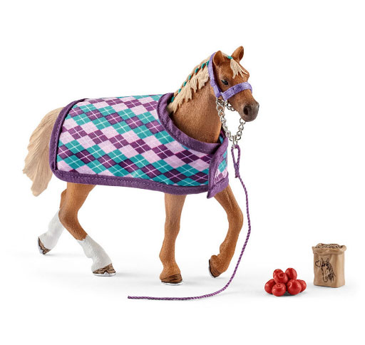 Schleich Engelse volbloed met deken