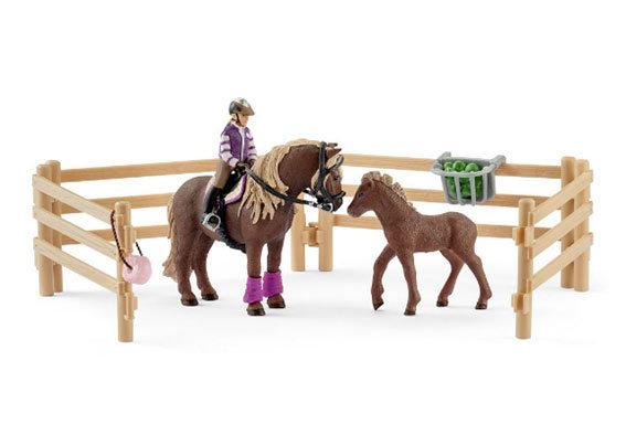Schleich IJslandse pony's met ruiter