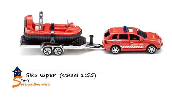 Siku rescue auto met hovercraft (schaal 1:55)