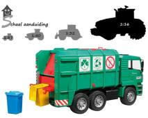 MAN TGA groene vuilniswagen (schaal 1:16)