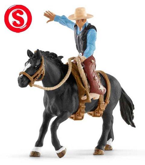 Schleich Rodeo paard met cowboy
