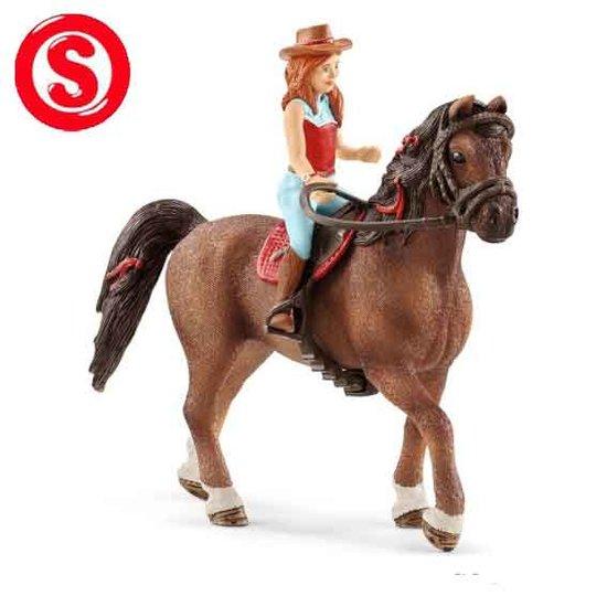 Schleich Hannah met haar paard Cayenne (schaal 1:24)