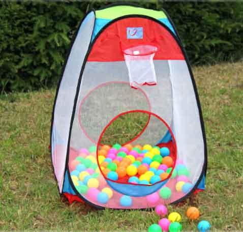 Pop-up speeltent met ballen