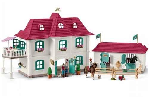 Speelgoed paarden zoals bruder schleich en kidsglobe for Woonhuis met stallen