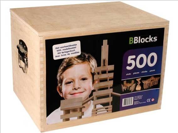 BBlocks 500 stuks in houten kist