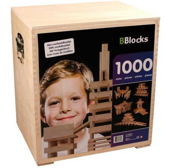 BBlocks 1000 stuks in houten kist
