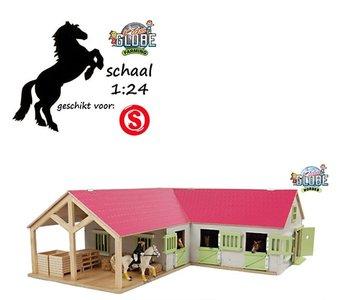 Kids Globe paarden hoekstal