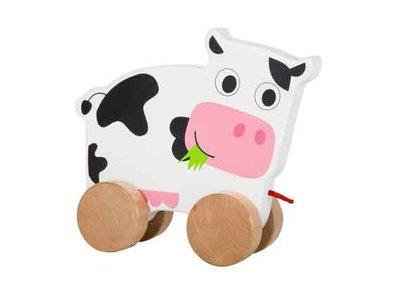 houten trek koe