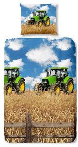 dekbedovertrek groene tractor
