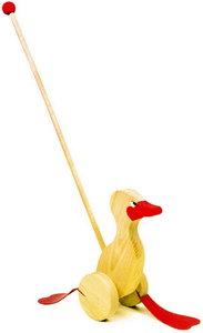 Wandelende eend met duwstok