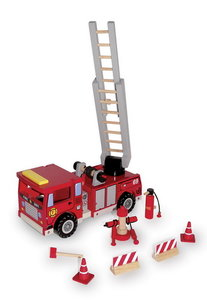 houten brandweer auto