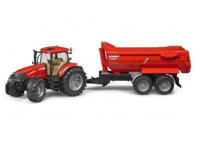 speelgoed tractor met aanhanger van Bruder