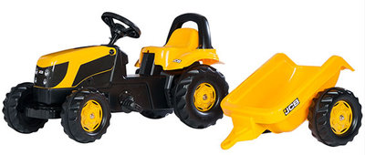 Rolly Toys Rollykid JCB met aanhanger