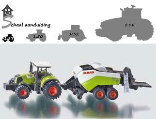 Claas speelgoed tractor met balenpers