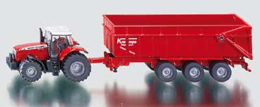 rode speelgoed tractor met aanhanger