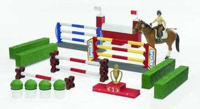 Springconcours paarden groot, incl. paard en amazone