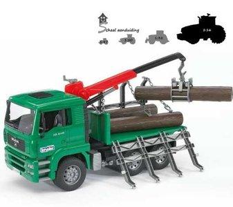 Bruder MAN houttransport vrachtwagen