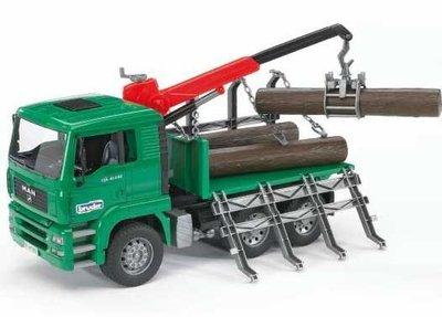 Speelgoed houttransport vrachtwagen