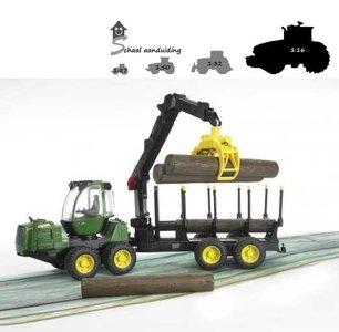 Bruder John Deere houttransporteur