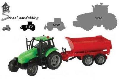 tractor met kiepkar