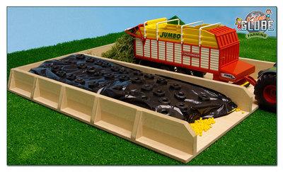 houten sleufsilo met speelmais