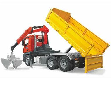 Bruder speelgoed vrachtwagen met kipbak