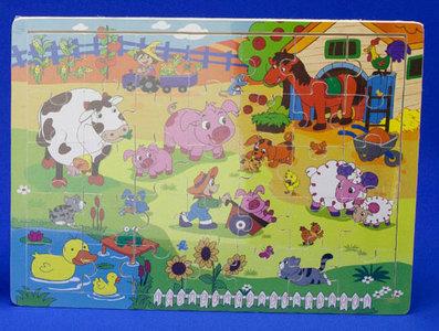 Houten boerderij puzzel