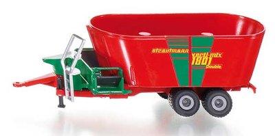Siku 1988 New Holland con cargador frontal y strautmann futtermischwagen 1:50 nuevo °