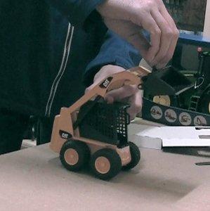 bruder CAT gele laad machine