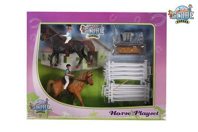 Kids Globe horses speelset